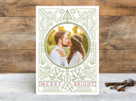 Minted Modern Doves Holiday Photo Cards